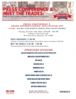 Press Conference & Union Apprenticeship Application Day