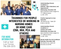 Training's for People Interested/Working in Nursing Homes/Home Care