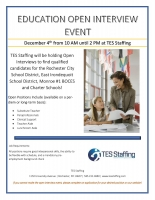 TES Staffing Education Open Interview Event