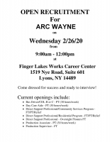 ARC Wayne Open Recruitment Event