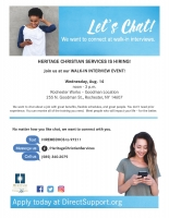 Open Interviews - Heritage Christian Services