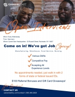 Career Start Open Interviews